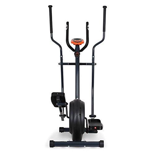 Klarfit Ellifit FX 250 – Nordic Walking Ellipsentrainer, Crosstrainer, Handpulsmesser, Trainingscomputer, 8 Stufen Widerstand, für Personen mit einem Gewicht bis 110kg, schwarz-orange - 4