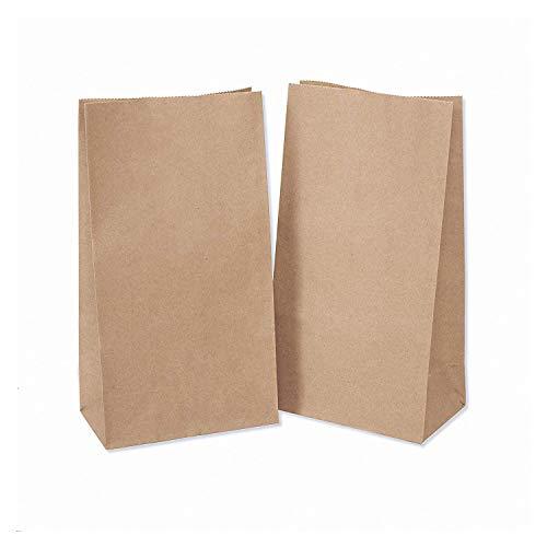 Omenluck Paquete de 50 bolsas de papel marrón biodegradables de grado alimentario calendario de Adviento DIY Kraft Paperbags