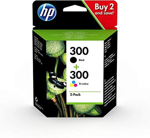 HP CN637EE 300 Cartucho de Tinta Original, 2 unidades, negro y tricolor (cian, magenta, amarillo)