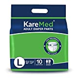 Best Adult Diapers - KareMed Adult Diaper Pants for Incontinence, Large, Waist Review