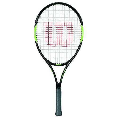 Wilson Blade Team, Racchetta da Tennis Unisex-Bambini, Nero/Verde, 25 Pollici