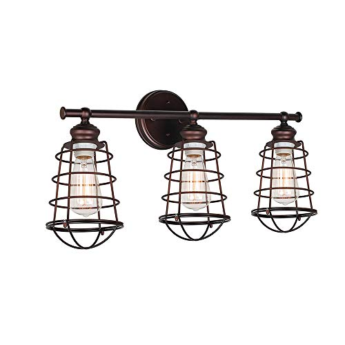Design House 519736 Ajax 3 Light Vanity Light, Bronze