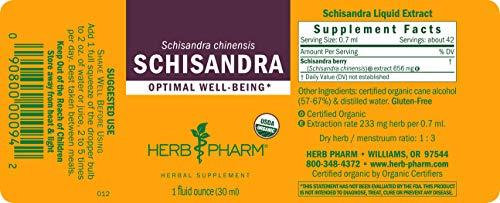 Herb Pharm Certified Organic Schisandra Berry Liquid Extract - 1 Ounce