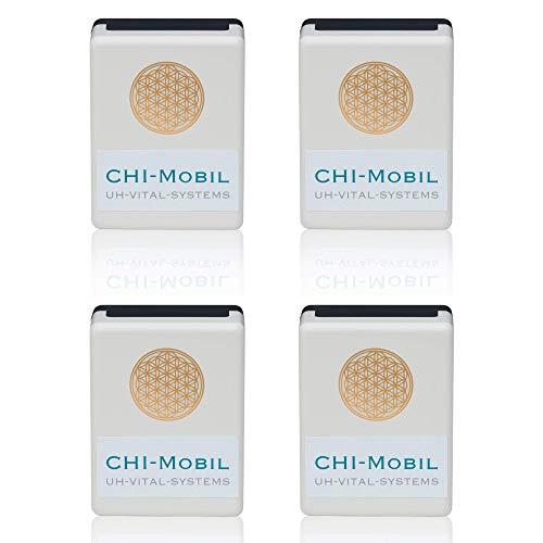 CHI-Mobil - Familiy-Paket Plus (4 Stck.) Elektrosmog Abschirmung - Strahlenschutz für Unterwegs – mit Tasche – 4 Meter Radius - 5G optimiert - Made in DE - EMF Protection