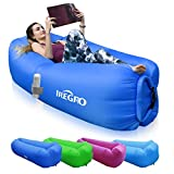 IREGRO Inflatable lounger Waterproof inflatable Sofa with Storage...