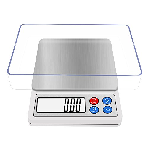 Gram Scale 600g x 0.01g Digital Kitchen Scale NEXT-SHINE High-Precision Pocket Mini Muti-Functional Pro Scale with Back-lit LCD Display Tare PCS for Cooking and Backing