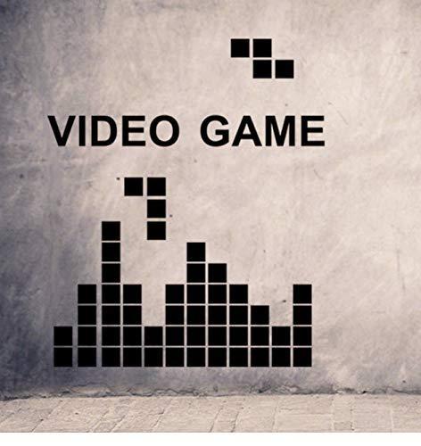 Tetris, spel videospel, vinyl, wandtattoo, wooncultuur, kinderkamer, slaapkamer, doe-het-zelf, wandfoto, behang, afneembare muurstickers