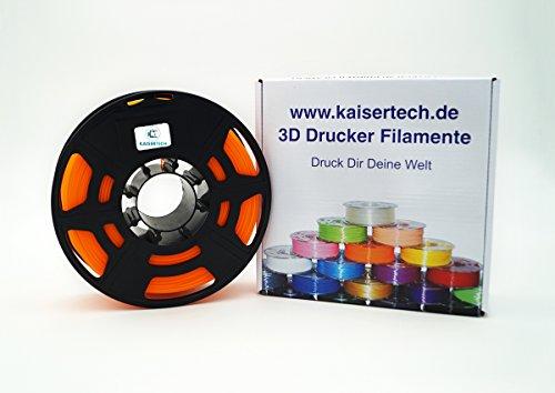 Kaisertech filament voor 3D-printer, 1 kg, ABS, 3,00 mm, oranje, spoel van premium kwaliteit