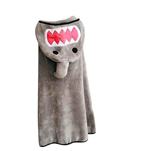 Yoommd Toalla infantil Poncho con capucha, toalla de baño con capucha, toalla con capucha, toalla de playa, albornoz, toalla de baño para niños y niñas, 90 x 145 cm gris Large