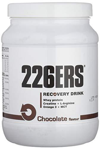 226ERS Recovery Drink, Recuperador Muscular con Proteína, Creatina, Hidratos de Carbono, Triglicéridos y L-Arginina, Chocolate - 500 gr