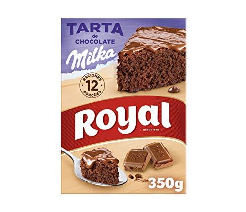 Royal Tarta de Chocolate Milka, Preparado en Polvo, 12 Raciones, 350g