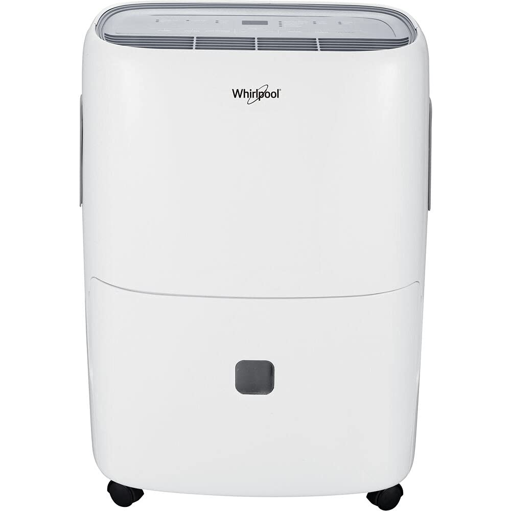 Whirlpool 50 Pint Portable Dehumidifier Auto Max 65% Gorgeous OFF 24-Hour Timer with