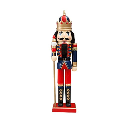 Fiaoen Nuevas muñecas creativas de Navidad Europa y América Soldados de madera Cascanueces decoración del hogar fiesta joyería de corazón
