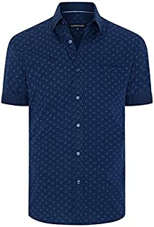 Tarocash Men's Pisces Print Shirt Long Sleeve Fit Sizes XS-5XL for Going Out Smart Casual