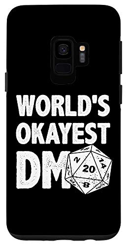 Galaxy S9 Funny World's Okayest DM D20 Dice Dungeon Dragons Gaming Case