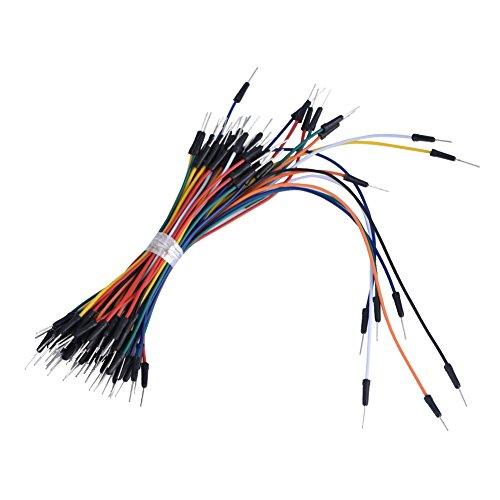 Tonysa 65 Piezas de Cables de Puente de protoboard, Kit de Cable de Prueba de Cable de Puente de Macho a Macho para Proyecto de PCB, Proyecto de Bricolaje electrónico, Placa Base de PC, etc.
