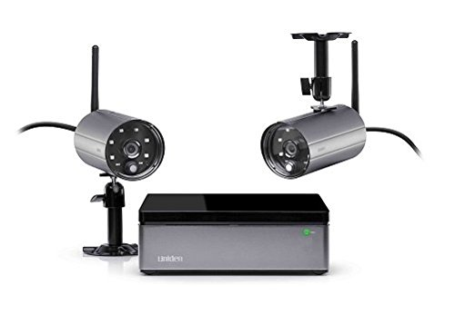 UNIDEN Digital Wireless Recorder DVR 4-Channel Video Security System With 2 Weatherproof Night Vision Cameras, IOS and Android Compatible Remote Viewing App, Supports Memory Up To 2TB, Easy DIY Setup