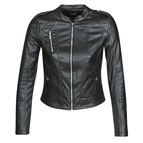 VERO MODA VMAWARDALMA Jacks/Blazers femmes Zwart Leren jas/kunstleren jas