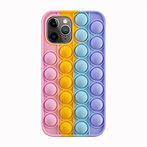 WusyStore Pop Fidget Toys - Funda de silicona para teléfono, compatible con iPhone, evita aburridas herramientas de alivio divertidas (para iPhone7/8, 7#)