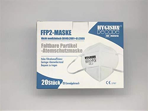 Mund und Nasenschutz [10x] FFP2 Maske – DEKRA geprüfte Mundschutz Maske einweg Atemmaske, Maske EINZELVERPACKT, Atemschutzmaske ohne Ventil FFP2 Mundschutz - 5