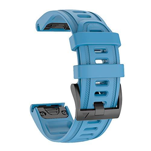 ISABAKE 20mm Uhrenarmbänder Schnellverschluß fürGarmin Fenix 5S/Fenix 5S Plus/Fenix 6S/Fenix 6S ProSmartwatch Silikon Uhrenarmbänder Armband Watch Bands Strap Ersatzarmbänder (Blau)