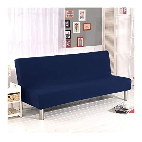 Cornasee Sofabezug 3 sitzer ohne armlehne - Clic Clac Sofahusse Stretch Bettcouch Schonbezug Einfarbig,Marine