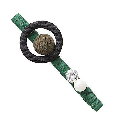 Westeng 1pcs Grand Pince a clipser Cheveux Créatif Barrettes accessoires pour Femme 9cm - vert