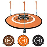 Oriolus Drone Landing Pad 22 inch Collapsible Landing Mat for DJI Tello Mavic Phantom 3 4 Spark Mavic 2 Pro Zoom Air Mavic Mini(Orange Black)