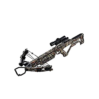 Barnett Wildgame XB380 380 Foot Per Second 185 Pound Draw Weight Compound Hunting Crossbow Kit Package, Elude Camouflage