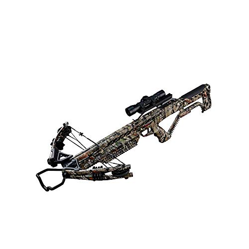 Wildgame Innovations Barnett Wildgame XB380 380 Foot Per Second 185 Pound Draw Weight Compound Hunting Crossbow Kit Package, Elude Camouflage