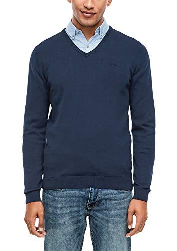 s.Oliver RED LABEL Herren Pullover mit V-Ausschnitt dark blue XL