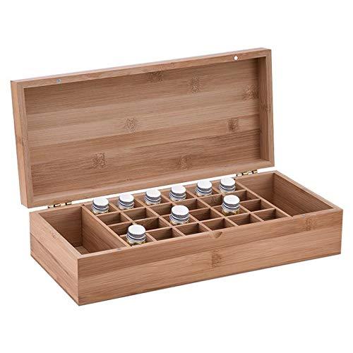 CHSEEO Ätherisches Öl Box Organisator Aufbewahrungsbox 26 Löcher Holzbox für Duftöle und Ätherische Öle Deal Geschenk für Geburtstage und Weihnachten #3