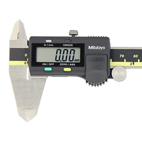 """Mitutoyo 500-196-30 Advanced Onsite Sensor (AOS) Absolute Scale Digital Caliper, 0 to 6""""/0 to 150mm Measuring Range, 0.0005""""/0.01mm Resolution, LCD"""