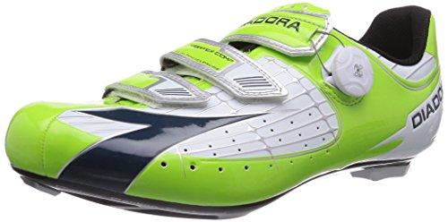 Diadora VORTEX- COMP, Unisex-Erwachsene Radsportschuhe - Rennrad, Grün (lime/blau 5709), 44 EU