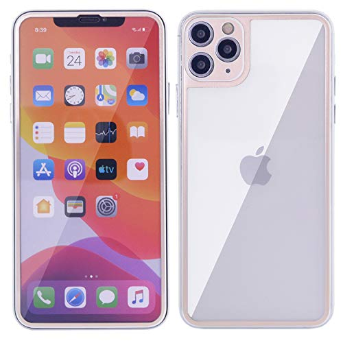 iPhone 11 Glass, DMaos Full Screen Glass and Back Cover 2 Pieces 3D Coverage Tempered Guard with Camera Cover, Premium for iPhone11 6.1 inch 2019 - Gold