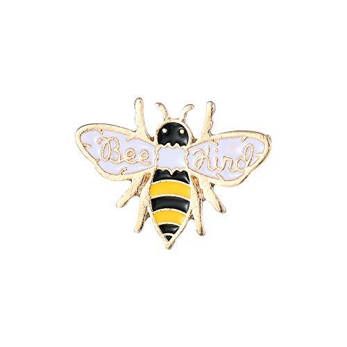 Lemon-Land Gitfts Men Cartoon Fashion Lapel Pin Brooch Bee Honey Animal Badge Enamel Pins