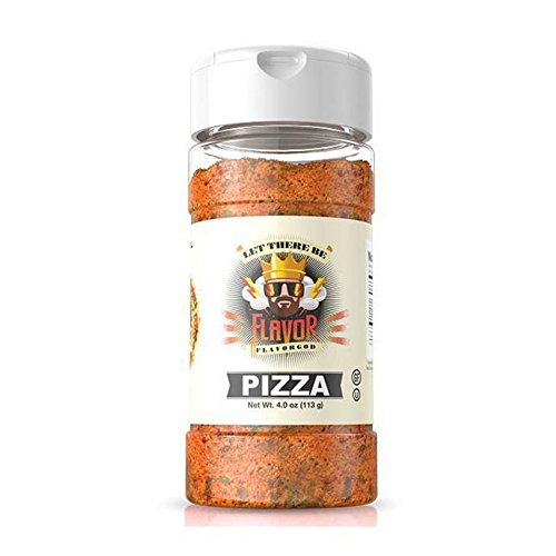 Flavor God - Gluten Free Zero Calories Seasoning - Great For Meal Prep, Diet (Pizza Seasoning), 4 Ounce