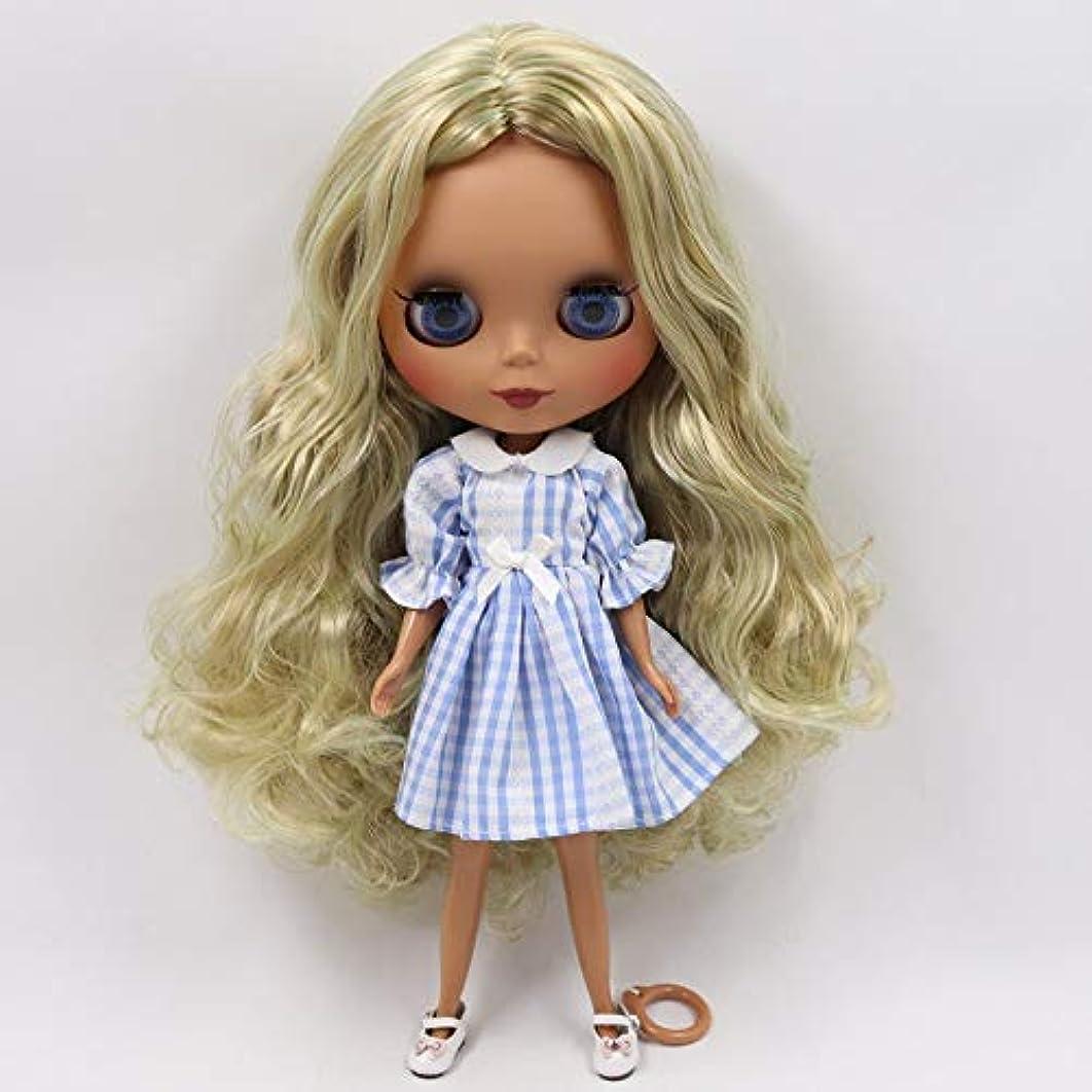 叙情的な懐娘MAHAXX氷幸運日工場ブライス人形 1/6 の共同体新しいマットフェイスグリーンミックスブラウン髪 diy sd ギフトおもちゃ