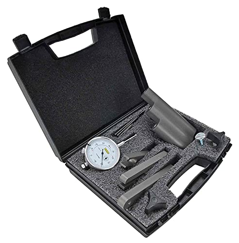 JEGS Ring & Pinion Setup Tool Kit   Made in USA   Hard Anodized Aluminum Components   Includes Dial Indicator, Laminated Instructions, Storage Case, and 3 Indicator Extensions
