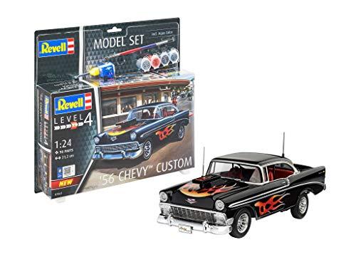 Revell- Model Set '56 Chevy Customs Kit plástico, Multicolor, 1/32 (67663)