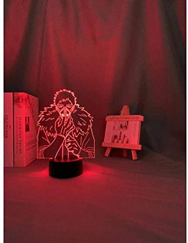 Lámpara De Noche 3D Led Lámpara De Mesa De Cabecera Anime 7 Colores Touch Sensor Lámpara Cargador Usb Dormitorio Decoración Regalo De Cumpleaños Para Niños