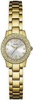 ساعة رسمة بهيكل ستانلس ستيل ومينا ذهبي فاتح وعرض انالوج للنساء من جيس، موديل W0889L2