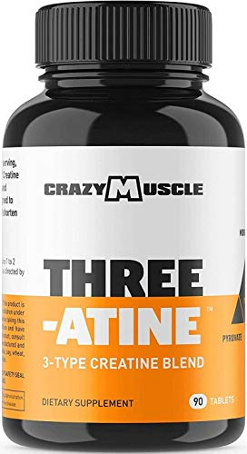 Creatine Pills - Keto Friendly Muscle Builder - 1,667 mg Tablets (138% More Than Creatine Capsules) - Over 5000mg (5 Grams) of Monohydrate, Pyruvate + AKG - Optimum Strength Bodybuilding Supplement