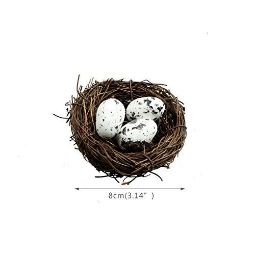Frühlings Ostern Deko Grasnest Deko Vogelnest mit Eiern aus Kunststoff JS