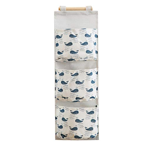 Deng Xuna Wand-Aufbewahrungstasche 3 Taschen Hängetasche Ordnungssystem Organizer für Kinderzimmer, Schlafzimmer, Bad, Küche, Büro (D)