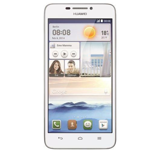 Huawei Ascend G630 Smartphone (12,7 cm (5 Zoll) Display, 8-Megapixel-Kamera, 4 GB Interner Speicher, Android 4.3) weiß