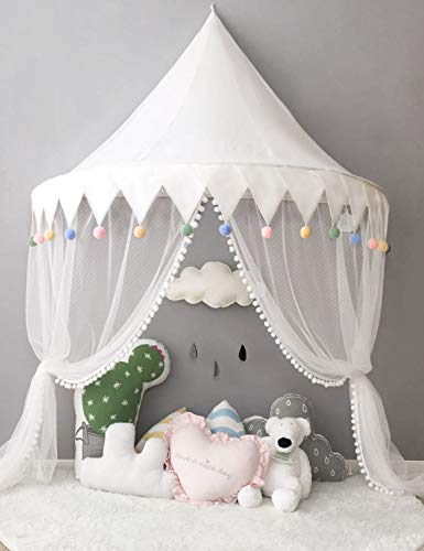 Betthimmel Babybett Baldachin Kinderzimmer Moskitonetz Bett Baby Zelt Spielen Zimmerdekoration für Babys, Mädchen, Jungen, Mückenschutz WBT