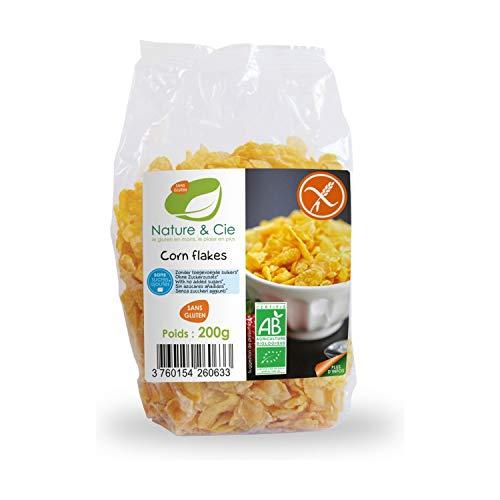 Cereales en copos de Maíz tostado SIN GLUTEN y SIN AZUCAR BIO. Caja 6 x 200g.