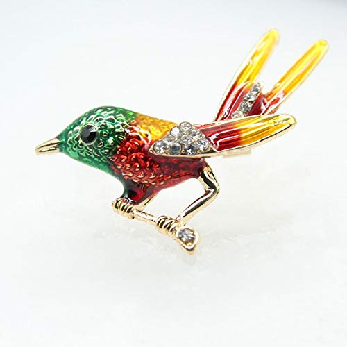 THTHT emaille Multi Color Flying Birds broche pins vrouwen meisjes kristal dier broche mannen pak corsage kinderen kleding accessoires pin