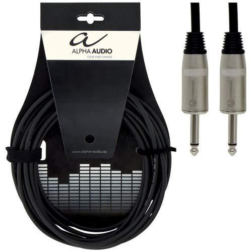 Alpha Audio 190620 Pro Line Lautsprecherkabel (1 m, Monoklinke auf Monoklinke)